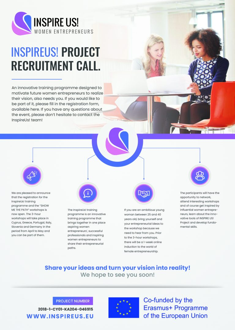 INSPIREUS! PROJECT RECRUITMENT CALL