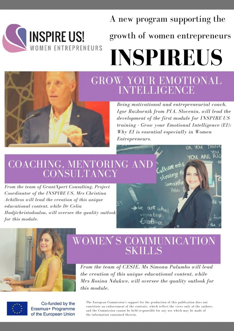 A new program supporting the growth of women entrepreneurs – Flyer